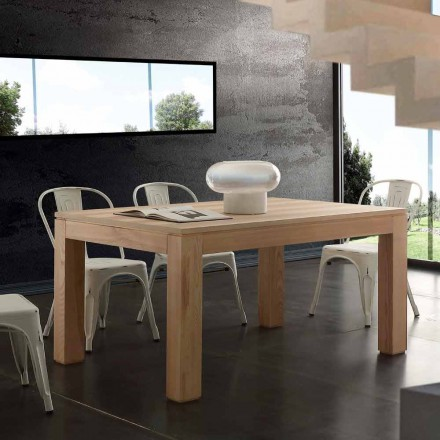 Table à rallonge Indiana avec pieds en bois massif, design moderne