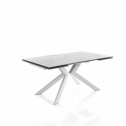 Table Extensible de Cuisine Moderne en Vitrocéramique – Vinicio