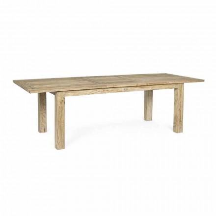 Table de jardin extensible à 260 cm en bois, 8 sièges Homemotion - Gismondo