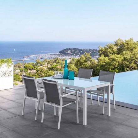 Table de jardin extensible en aluminium Maiorca par Talenti
