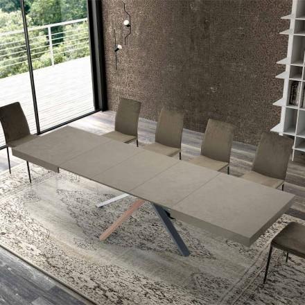 Table à manger extensible en bois de design moderne jusqu'à 3,1 m - Argentario