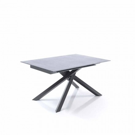 Table Extensible de Salle à Manger en Verre et Métal – Tristano