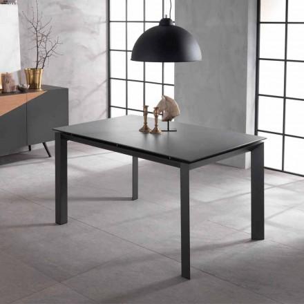 Table extensible de design avec plan en céramique et Nosdf MDF