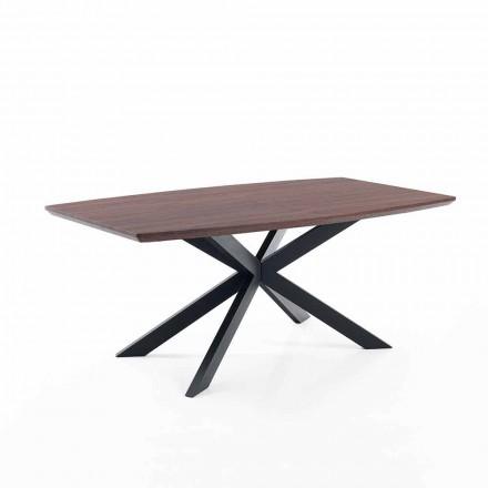 Table à Rallonges de Design faite en Mdf et Métal – Torquato