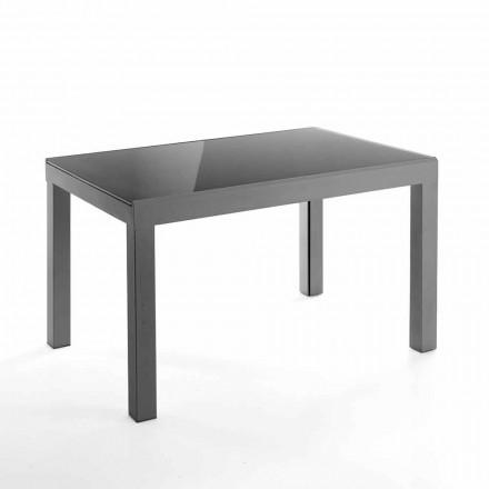 Table Extensible de Design en Verre et Métal – Guerriero