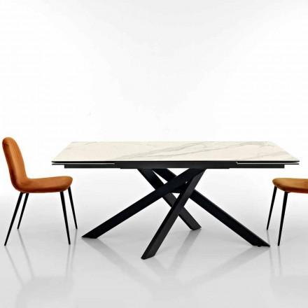 Table desing à rallonges en vitrocéramique made in Italy, Dionigi