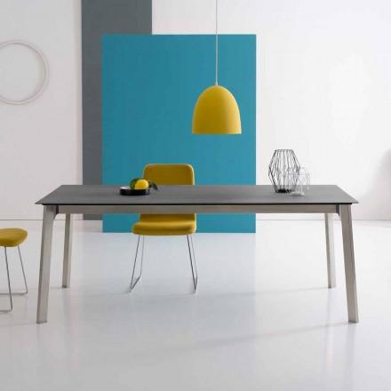 Table à rallonge design en aluminium, fabriquée en Italie - Arnara