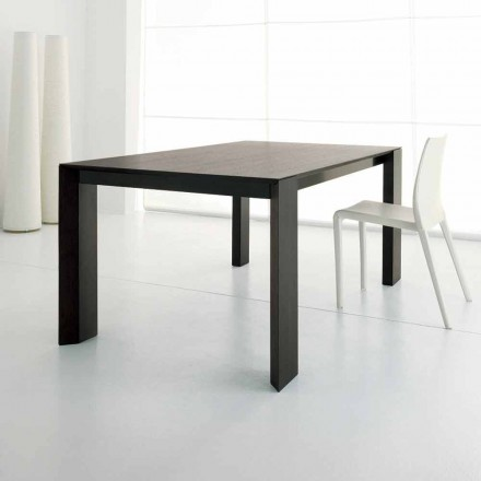 Table extensible jusqu'à 245 cm en bois de chêne wengé par Design - Ipanemo