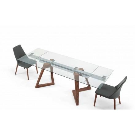 Table Extensible en Verre et Bois Plaqué Jusqu'à 280 cm – Eugrafo