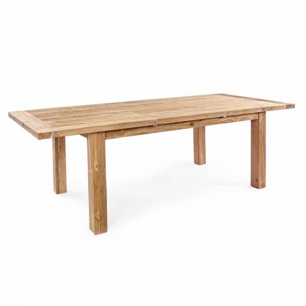 Homemotion - Table de jardin extensible Hunter en teck jusqu'à 250 cm