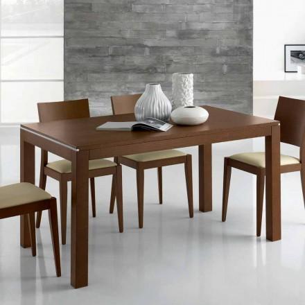 Table design extensible jusqu'à 350 cm en bois de frêne Made in Italy - Ketla