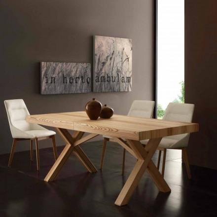 Table extensible Texas avec plateau en frêne olive