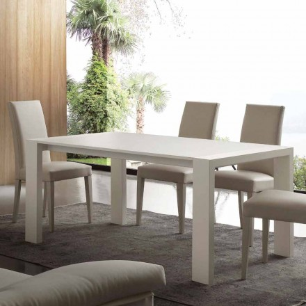 Table extensible Jesi en MDF, de design moderne