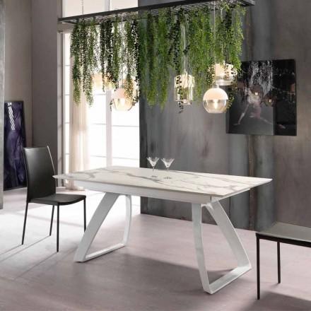 Table extensible moderne jusqu´à 270 cm avec pieds en métal Villongo