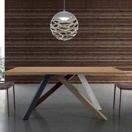 Table Extensible Moderne avec Plateau en Bois Laminé Made in Italy – Settimmio