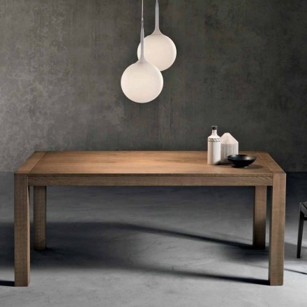 Table à rallonge moderne en bois de frêne made in Italy, Parre