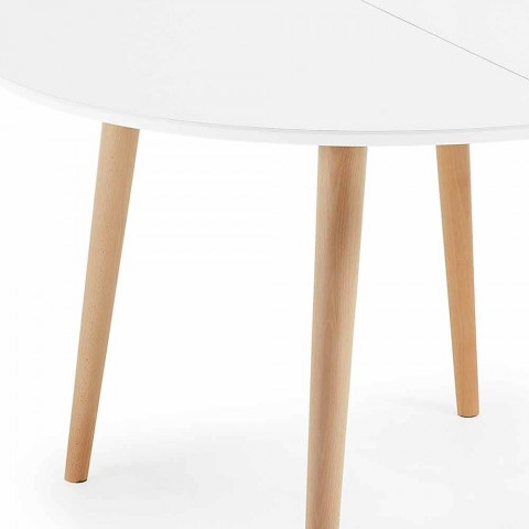 Table Design Ronde Extensible Upama Bois En bYvf7Iy6g