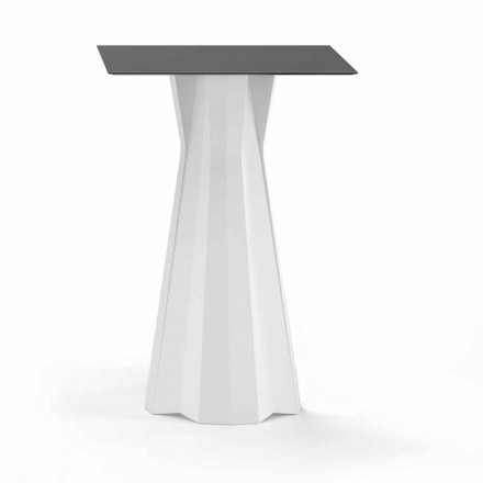 Table haute avec plateau en Hpl et base en polyéthylène Made in Italy - Tinuccia