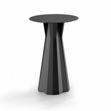 Table haute en polyéthylène avec plateau rond en Hpl Made in Italy - Tinuccia