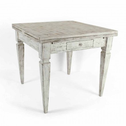 Table Artisan extensible jusqu'à 170 cm en bois Made in Italy - Marseille