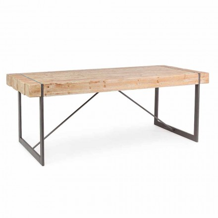 Table en bois de sapin de style industriel Homemotion - Wallie
