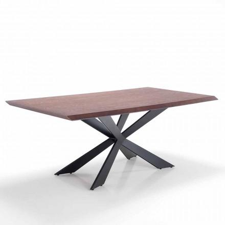 Table de Cuisine Moderne fabriquée en Mdf et Métal – Hoara
