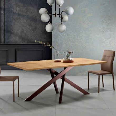 Table de cuisine en bois massif de design made in Italy, Dionigi