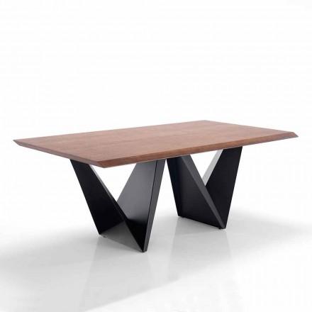 Table de Cuisine en Mdf et Métal de Design Moderne - Helene