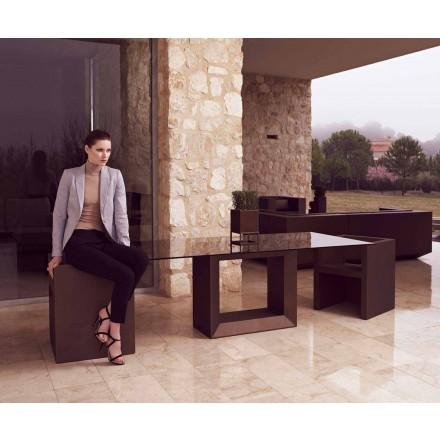 Table d'extérieur Vela 200x100 cm de Vondom, en résine de polyéthylène