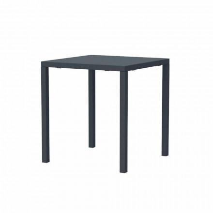 Table d'extérieur moderne empilable carrée en métal fabriquée en Italie - Aila