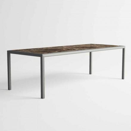 Table d'extérieur en aluminium au design moderne pour jardin - Mississippi2