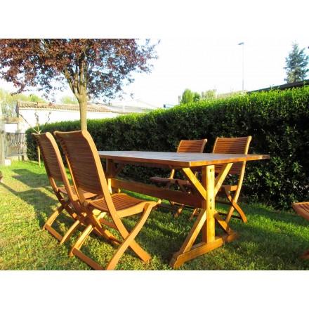 Table en bois de sapin de style rustique fabriquée en Italie - Clinio