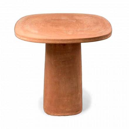 Table d'extérieur carrée en terre cuite 70x70 cm Made in Italy - Yulia