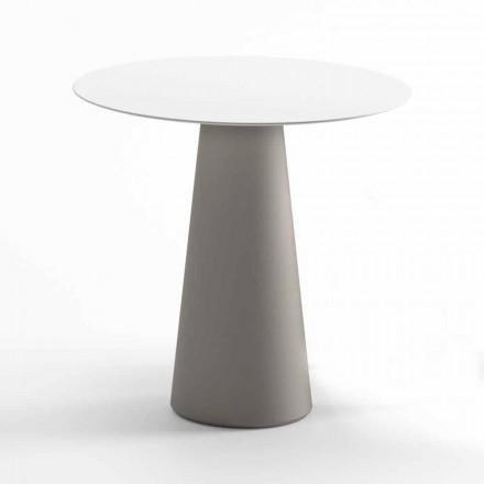 Table d'extérieur moderne en HPL et polyéthylène opaque fabriqué en Italie - Forlina