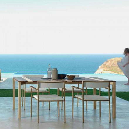 Table à manger de jardin Casilda Talenti de design moderne 200x100 cm