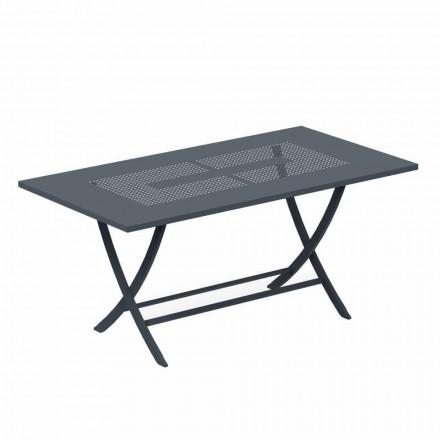 Table d'extérieur pliante en métal peint moderne fabriqué en Italie - Doria