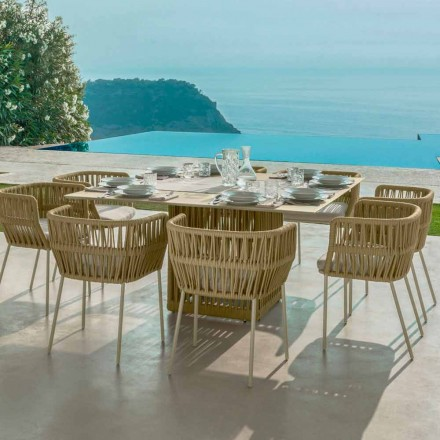 Table d'extérieur carrée en aluminium 150 cm Cliff Talenti by Palomba