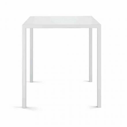 Table d'extérieur carrée fabriquée en Italie - Benedict