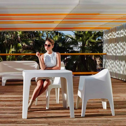 Table carrée d'extérieur Solid by Vondom en polypropylène, design moderne