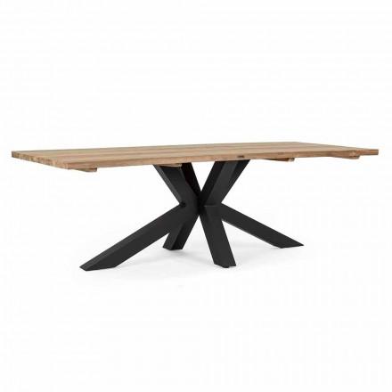 Table de jardin avec plateau en bois de teck par Homemotion - Cowen Design