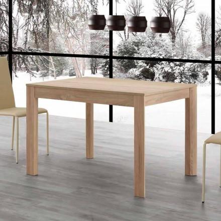 Table à manger extensible Fiumicino 130x80 ouverte 190 cm, design