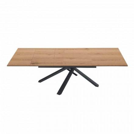 Table à manger extensible jusqu'à 260 cm en bois design moderne - Gabicce