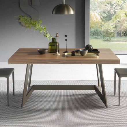 Table à manger extensible jusqu'à 160 cm en bois Made in Italy - Eugenia