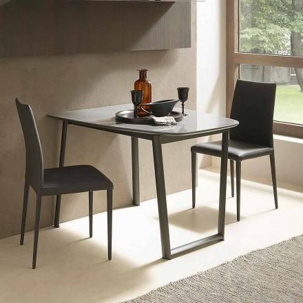 Table à manger extensible jusqu'à 170 cm en céramique Made in Italy - Tremiti