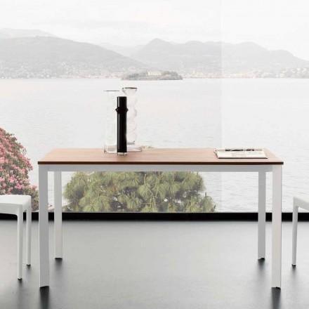 Table à manger extensible jusqu'à 230 cm en mélaminé Made in Italy - Platine