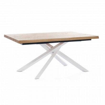 Table à manger extensible jusqu'à 240 cm en bois Made in Italy - Xino