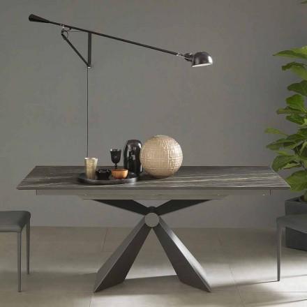 Table à manger extensible jusqu'à 298 cm en céramique Made in Italy - Anaconda