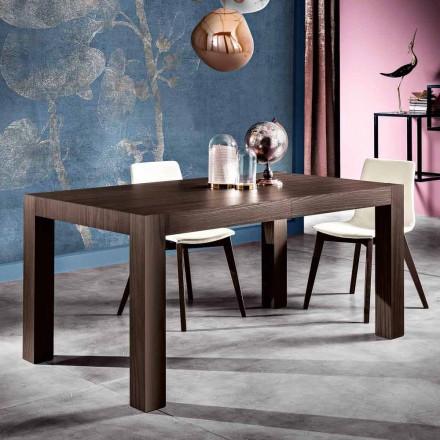 Table à manger à rallonges en bois mélaminé fait en Italie, Oky