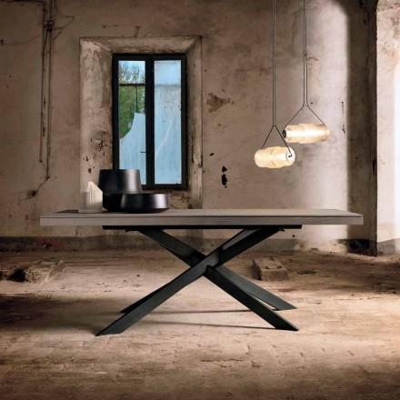 Table à manger extensible en bois de chêne L315 cm fabriqué en Italie, Oncino
