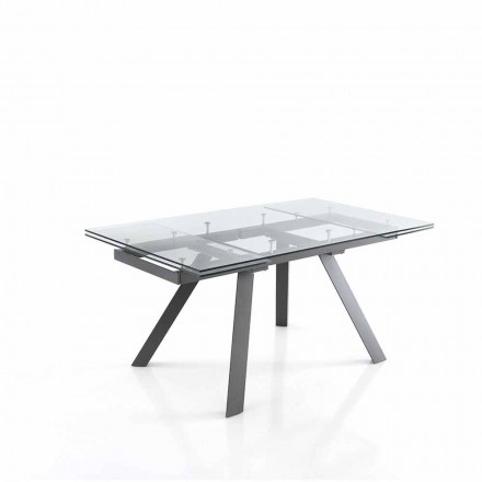 Table de Déjeuner Extensible Jusqu'à 240 cm en Verre - Basilea